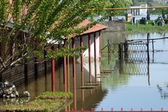 Powódź, duża katastrofa naturalna Fotografia Royalty Free