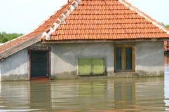 Powódź, duża katastrofa naturalna obraz stock