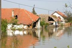 Powódź, duża katastrofa naturalna Zdjęcia Stock