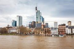 powódź Frankfurt Zdjęcia Stock