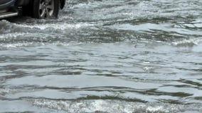Powódź na drodze zdjęcie wideo