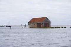 Powódź przypływ Norfolk fotografia royalty free