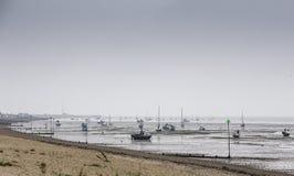 Powódź przypływ przy Southend Fotografia Royalty Free