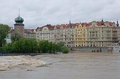 Powódź w Praga zdjęcie stock