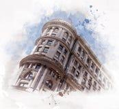 Powódź budynek w San Fransisco, Kalifornia - usa fotografia stock