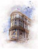 Powódź budynek w San Fransisco, Kalifornia - usa zdjęcie royalty free