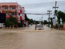 powódź kierowcy Zdjęcie Stock