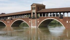 powódź Pavia Zdjęcia Stock