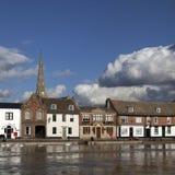 Powódź w St Ives Fotografia Stock