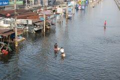 Powódź w Tajlandia 2011 Fotografia Royalty Free