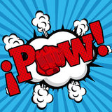 Pow και δύναμη διανυσματική απεικόνιση