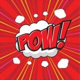 POW! κωμική λέξη Στοκ φωτογραφία με δικαίωμα ελεύθερης χρήσης