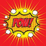 POW! κωμική λέξη Στοκ εικόνα με δικαίωμα ελεύθερης χρήσης