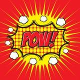 POW! κωμική λέξη απεικόνιση αποθεμάτων