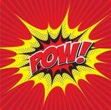POW! κωμική λέξη Στοκ Φωτογραφίες