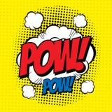 Pow κωμικό Στοκ εικόνα με δικαίωμα ελεύθερης χρήσης