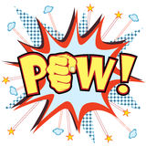 Pow. Vector illustration of a comic like pow sign Royalty Free Stock Photo