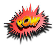 Pow 3D Stock Image