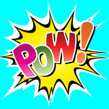 Pow. A Comic Book Pow Illustration Stock Photo