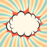 Pow cloud twirling background Stock Image