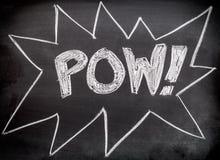 Pow comic action. From super hero stock photos