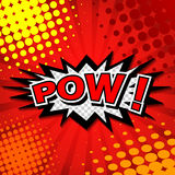 Pow! - Comic Speech Bubble, Cartoon Royalty Free Stock Photography