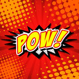 Pow! - Comic Speech Bubble, Cartoon Royalty Free Stock Image