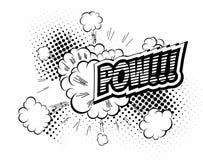 Pow - Comic Speech Bubble, Cartoon Stock Photos