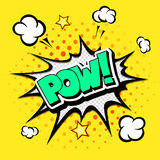 Pow - Comic Speech Bubble, Cartoon Royalty Free Stock Image