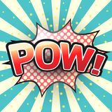 Pow, Comic Speech Bubble. Vector Stock Photo