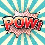 Pow, Comic Speech Bubble. Vector royalty free illustration