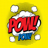Pow comic Royalty Free Stock Image