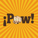 Pow comics. Over grunge background vector illustration Royalty Free Stock Photos