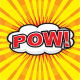 POW! grappig woord Royalty-vrije Stock Afbeelding