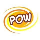 Pow icon, pop art style Royalty Free Stock Photos