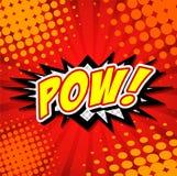 Pow! - Komisk anförandebubbla, tecknad film vektor illustrationer