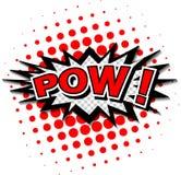 Pow! - Komisk anförandebubbla, tecknad film. Royaltyfria Bilder