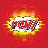 POW! komiskt ord Arkivfoton