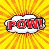 POW! komiskt ord Royaltyfri Bild