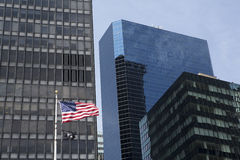 POW/MIA旗子在曼哈顿 图库摄影