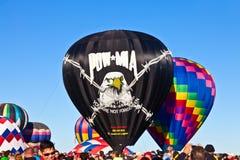 POW*MIA gorącego powietrza balon zdjęcie stock