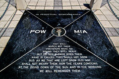 POW-MIA Memorial Plaque stock images