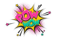 Free Pow Pop Art Comic Book Text Speech Bubble Royalty Free Stock Image - 118616546