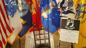 POW  table setting. Table setting in memory of the servicemembers of the armed forces that did not come home Stock Photo