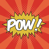 POW! Wording Sound Effect Royalty Free Stock Photography
