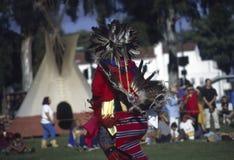 Pow wow. Dancing show on Pow Wow in California stock image