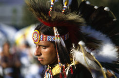 Pow wow. Dancing show on Pow Wow in California stock image