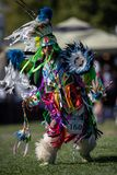 Pow Wow Dancer. Participants dancing Native American style at the Stillwater Pow Wow in Anderson, California stock photos