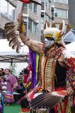 Pow-wow dancer of the plains tribes of Canada Royalty Free Stock Photography