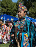 Pow-wow Dancer. A pow- wow is where Native Americans gather and celebrate their culture with dancing and music stock photos